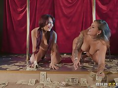 sexy dancer Karmen Karma likes to lick her girlfriend's wet pussy