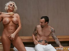 Kristina Shannon comestibles friend's fat penis like vanilla tumescence cream in the spa