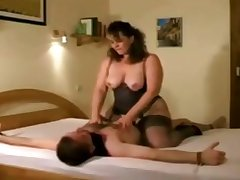 German full-grown little one Iris Von Hayden riding cock and jerking off