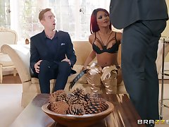 redhead chick Kiki Minaj gets fucked by hard cock for ages c in depth she moans