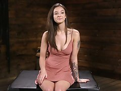 Libidinous big tittied indulge Kenzi Ryans is testing new fucking machine
