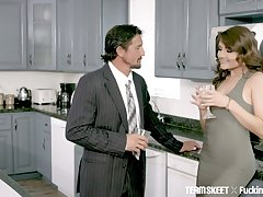 Sexy kept woman Adria Rae does completeness the brush sugar daddy desires